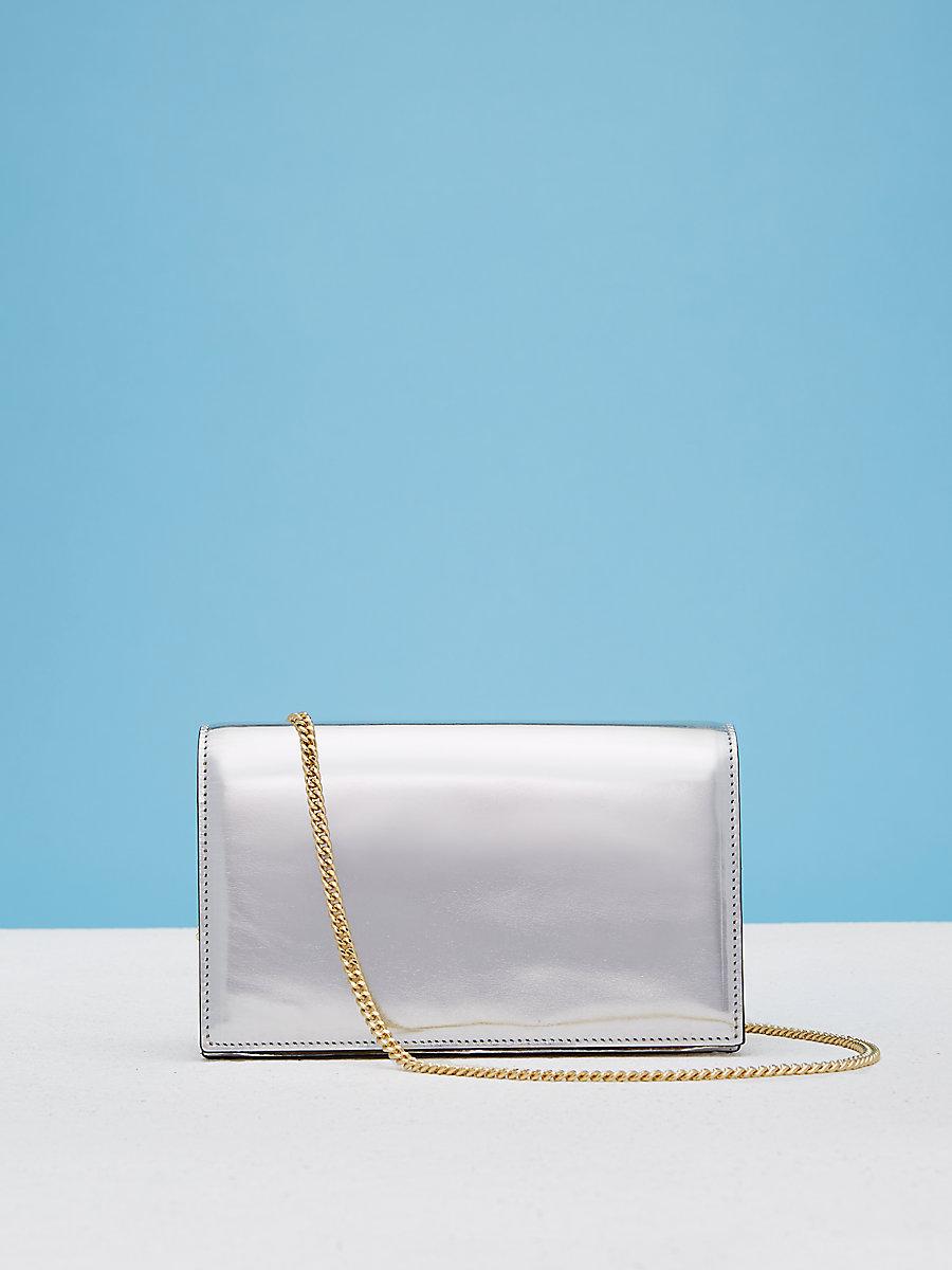 Soiree Crossbody Handbag in Silver/gold by DVF