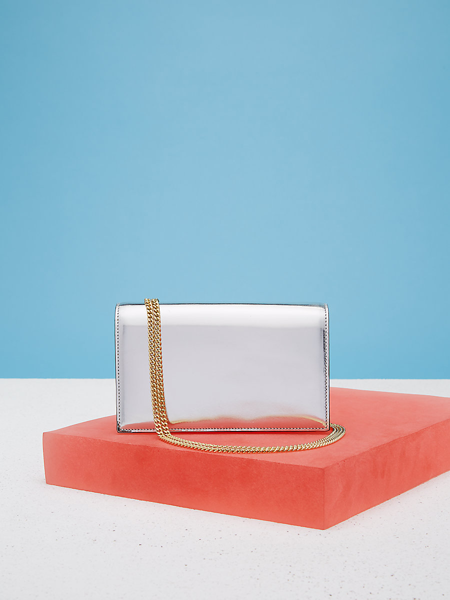 Soiree Crossbody Handbag in Silver/gold by DVF