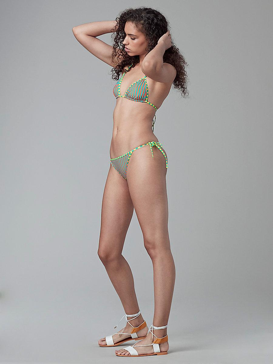 String Bikini Top in Borda St Ba/borda St Ay/acid Y by DVF