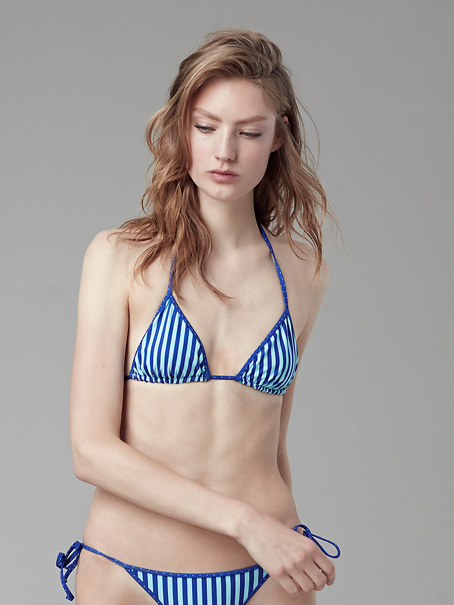 String Bikini Top in Borda Str Klein/ronsin Dot K/c by DVF