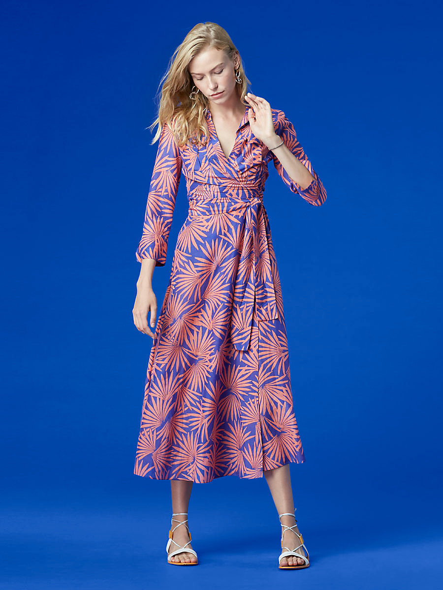 Collared Wrap Dress in Hartley Deco by DVF