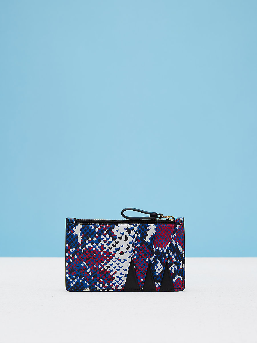 Zip Top Printed Card Case Slg in Tissera French Blue by DVF