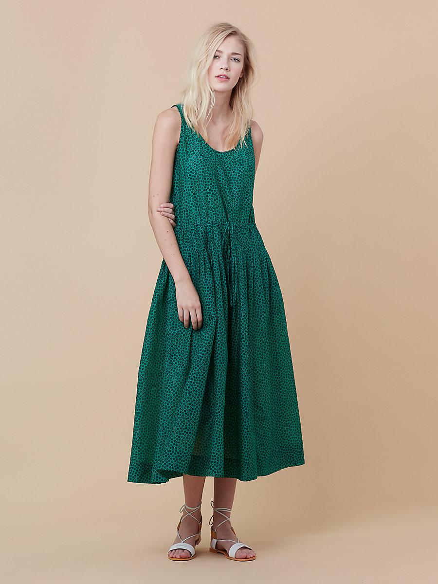 Drawstring Dress in Dalton Surf Green by DVF