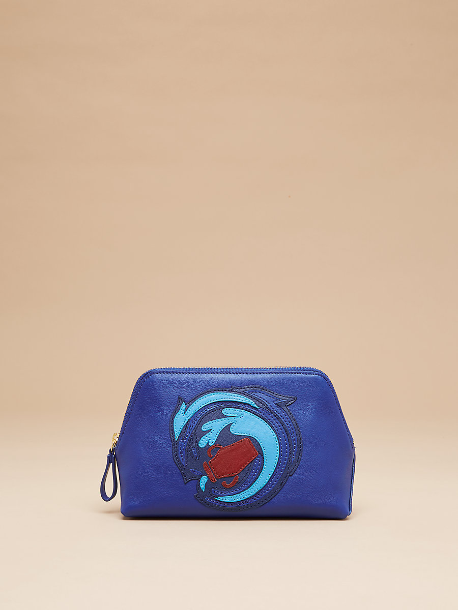 Zodiac Origami Cosmetic Case in Aquarius by DVF