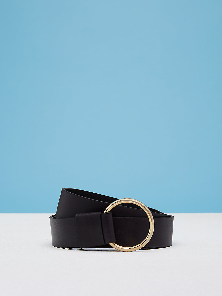 O Ring Belt in Black by DVF