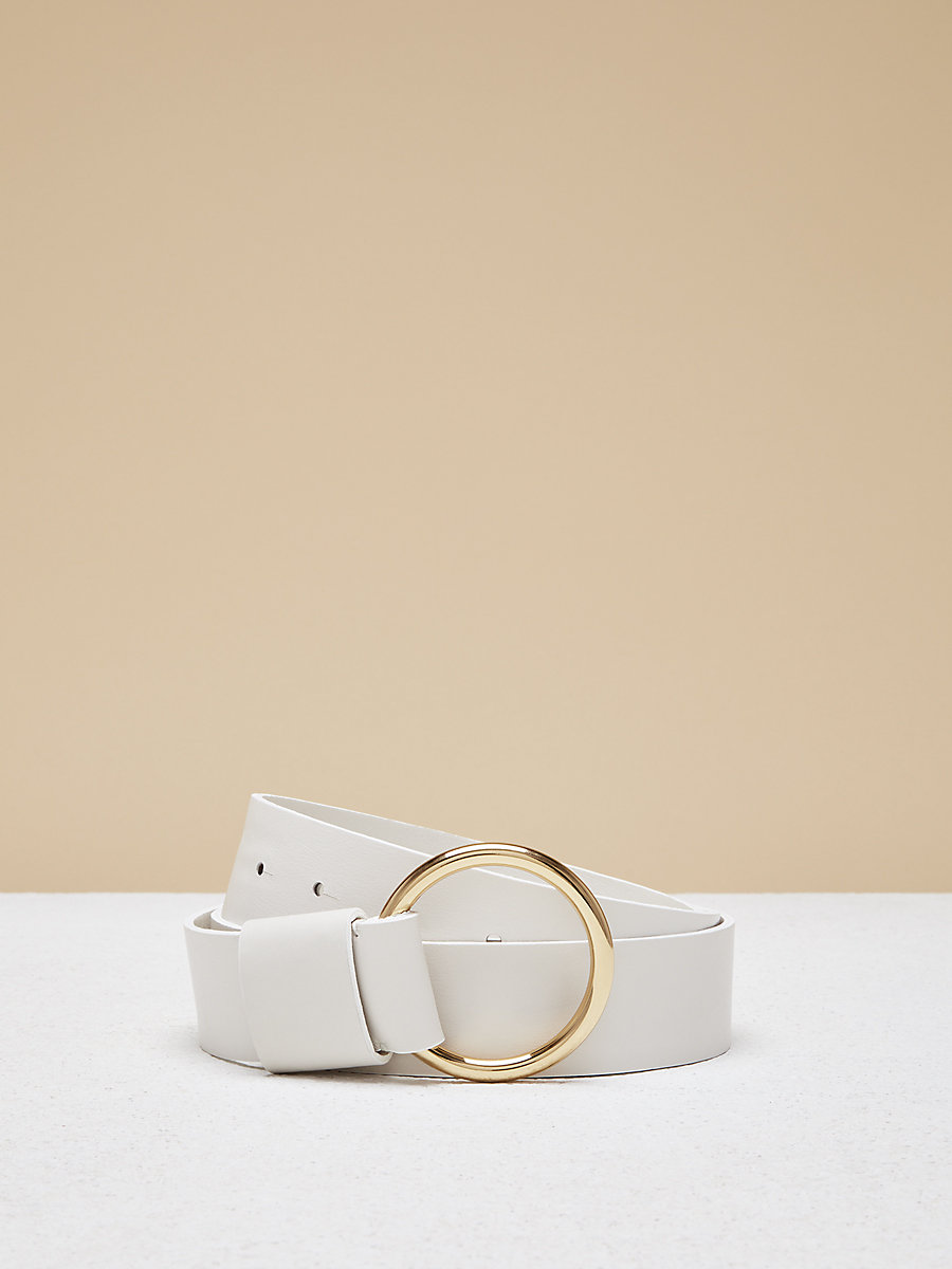 O Ring Belt in Ultra White by DVF