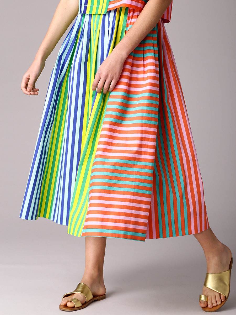 Drawstring Skirt in Riverin Str Crl/riv St Kl Bl by DVF