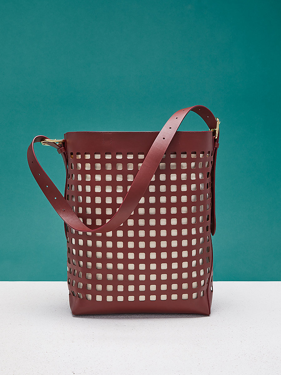 Perforated Origami Bucket Bag