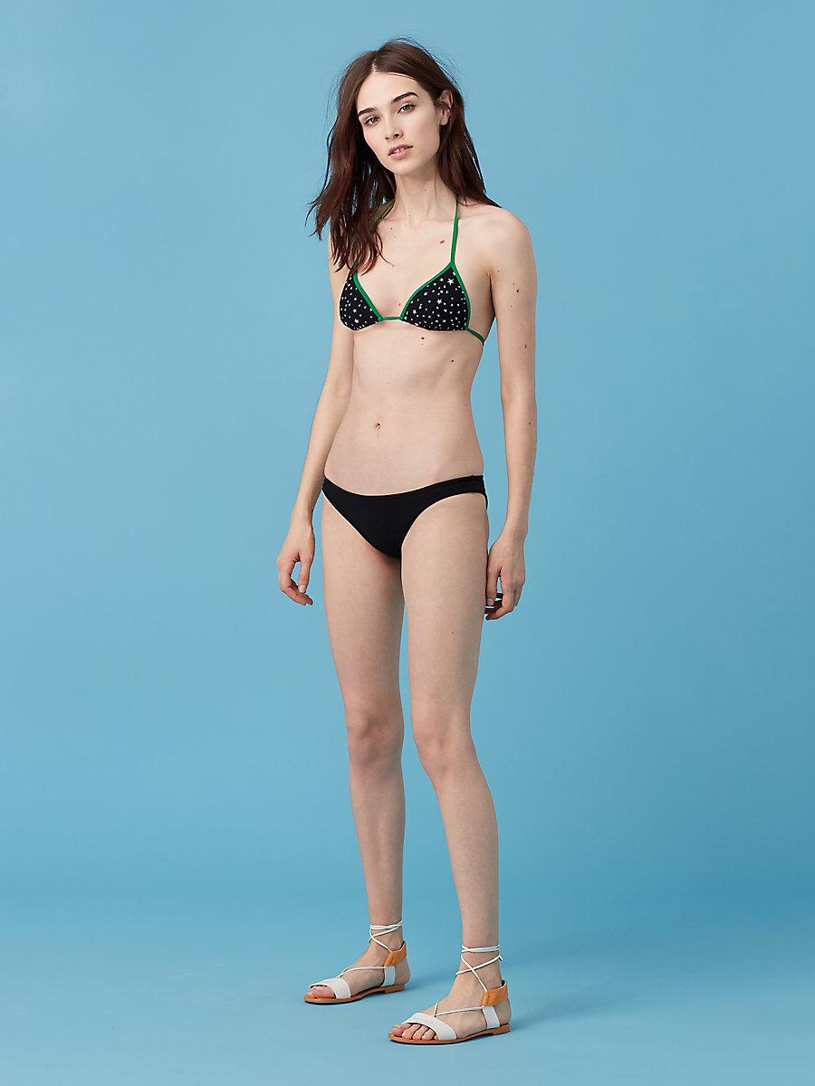 Classic Bikini Bottom in Black by DVF
