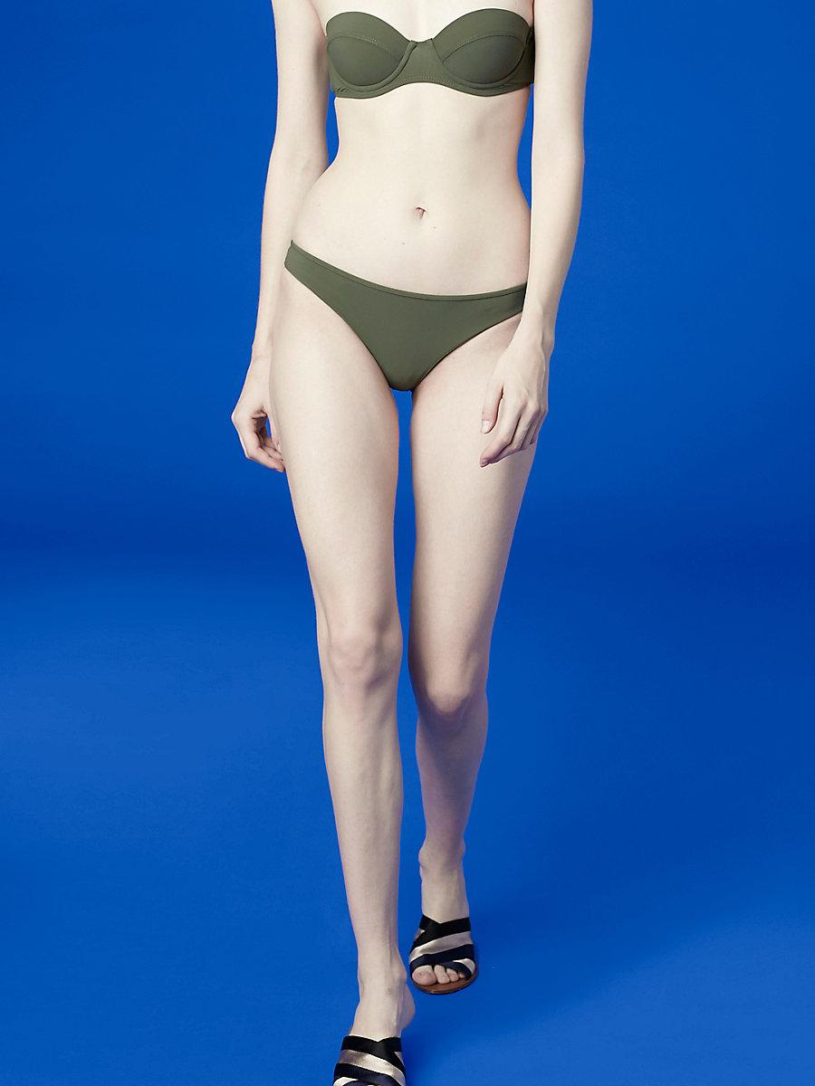 Classic Bikini Bottom in Camo by DVF