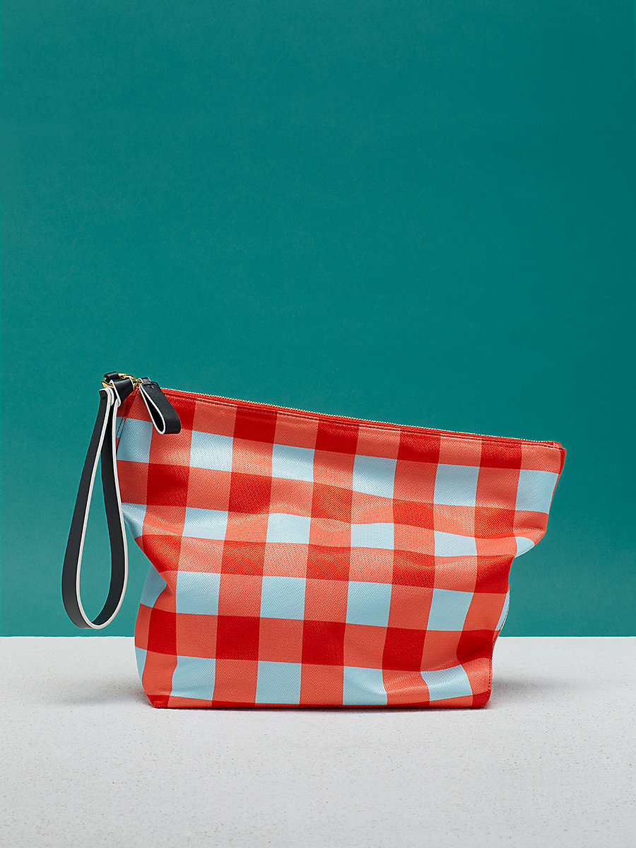 Printed Origami Wristlet in Cossier Bold Red by DVF