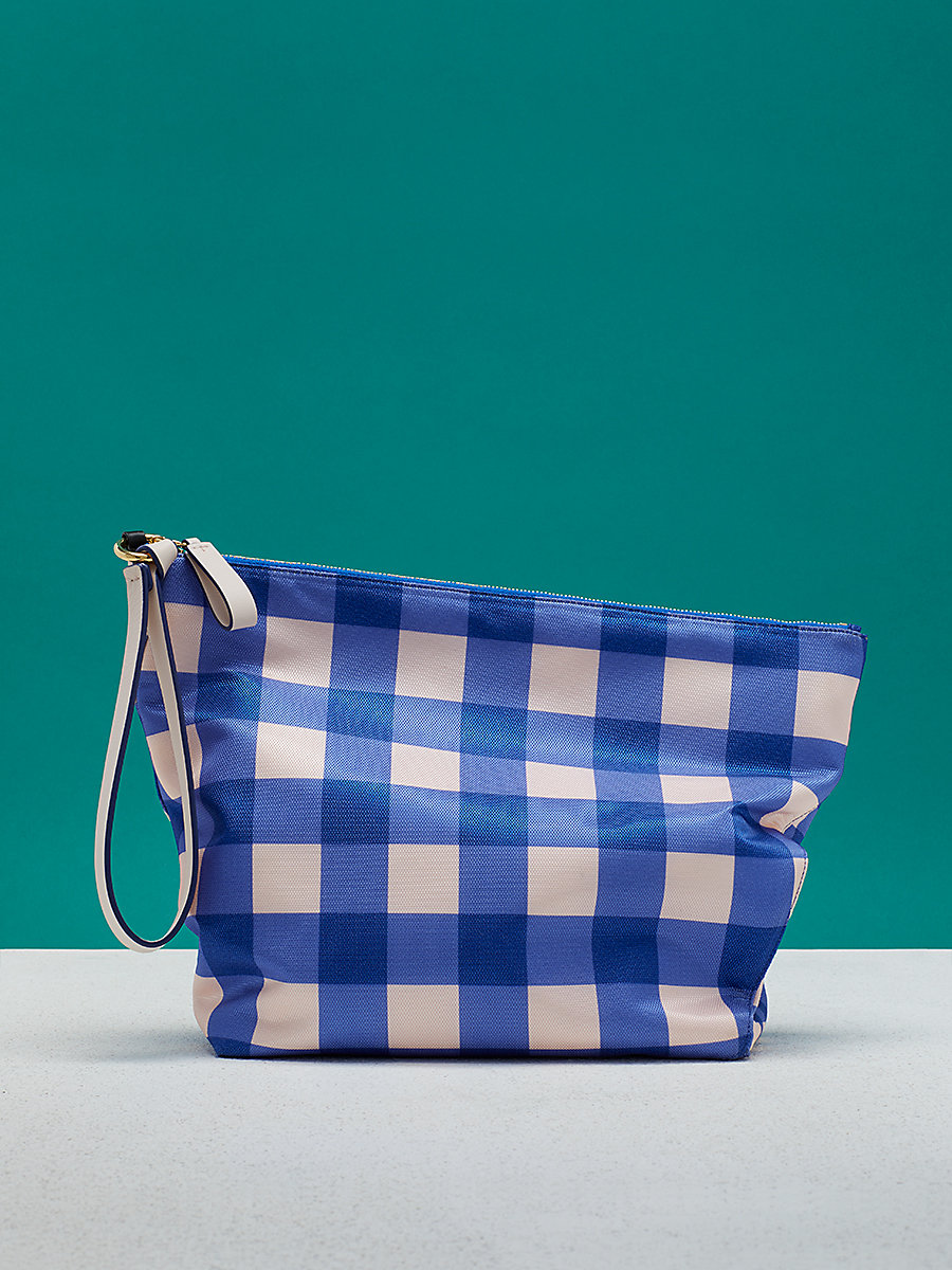 Printed Origami Wristlet in Cossier Klein Blue by DVF