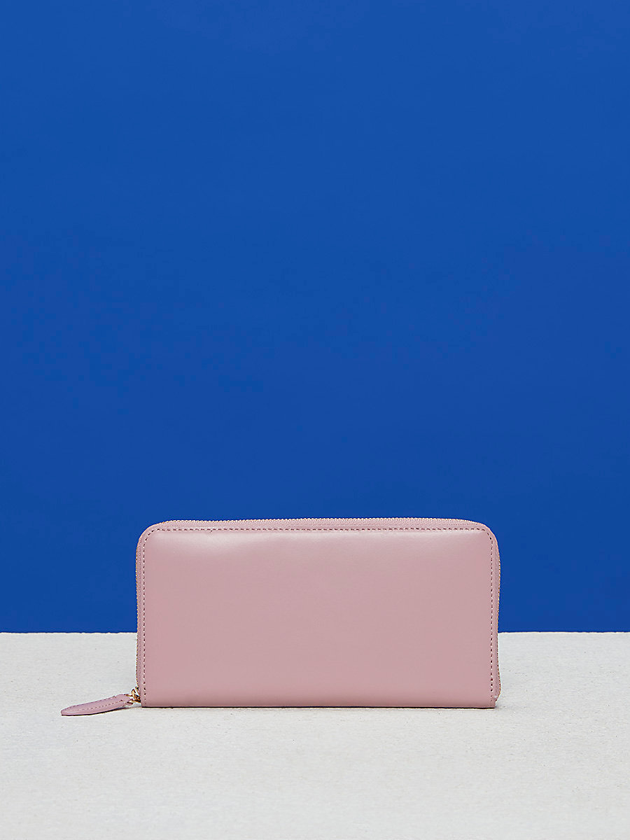 Zip-Around Wallet in Soft Pink by DVF