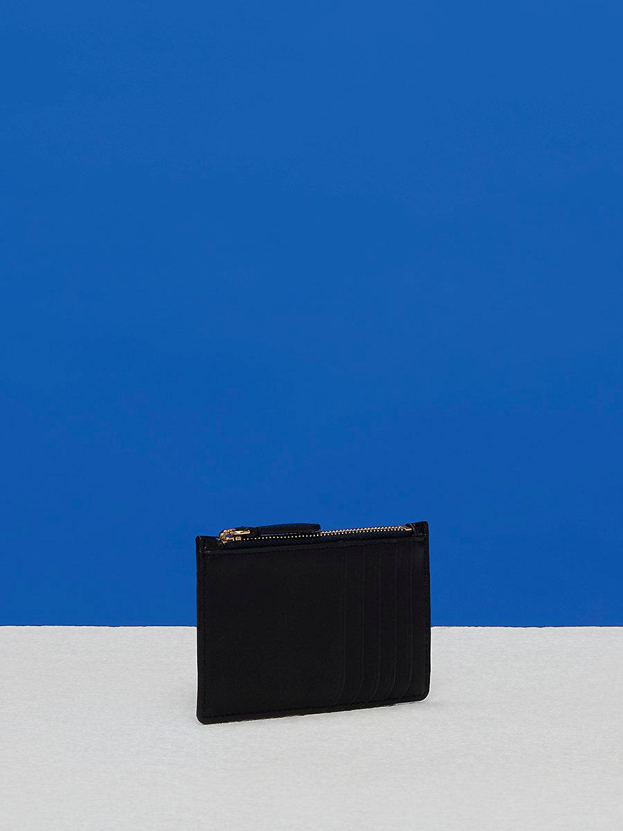 Zip Top Card Case in Black by DVF