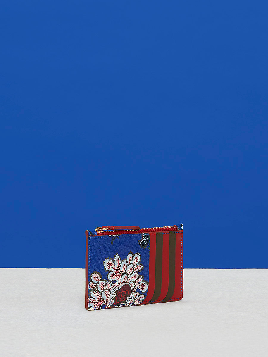 Zip Top Card Case in Canton Electric Blue by DVF
