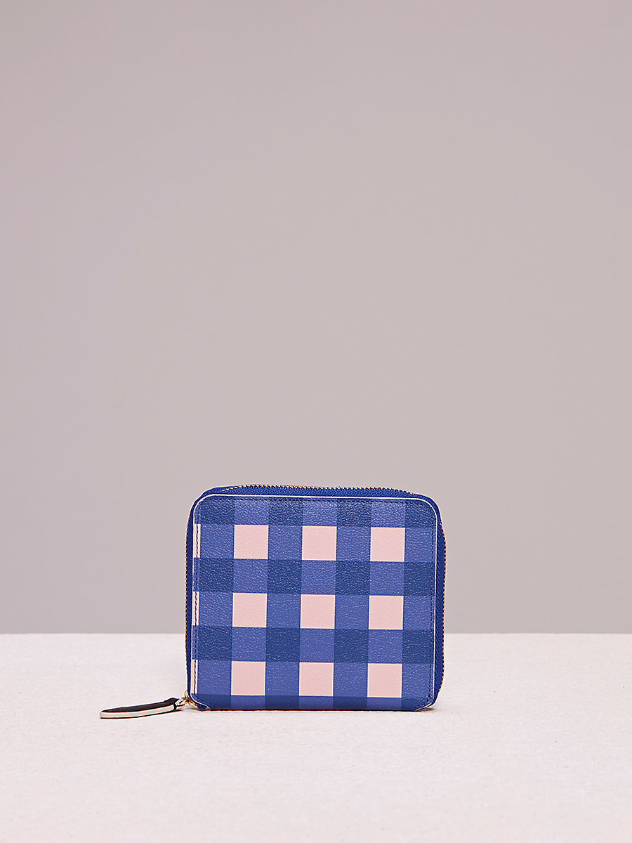 Small Zip-Around Wallet in Cossier Klein Blue by DVF
