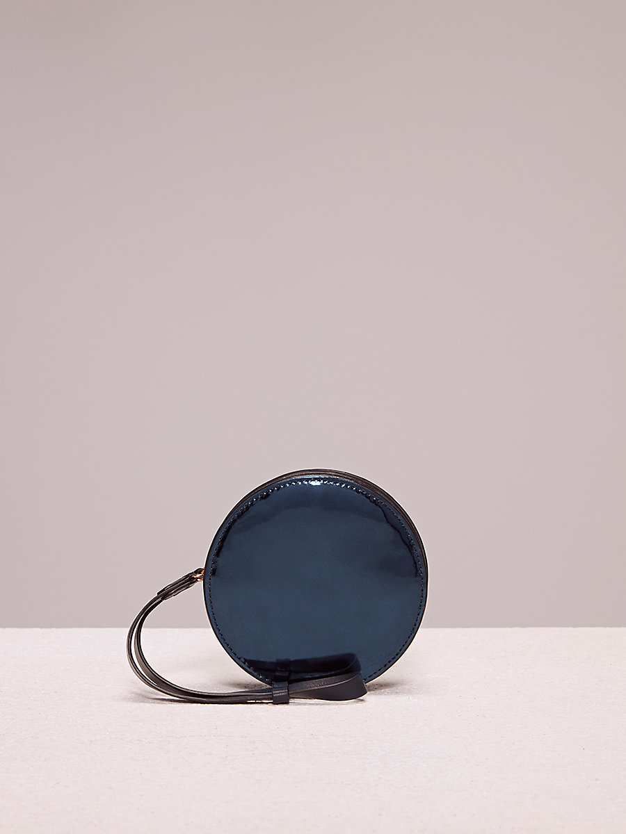 Circle Coin Pouch in Blue by DVF