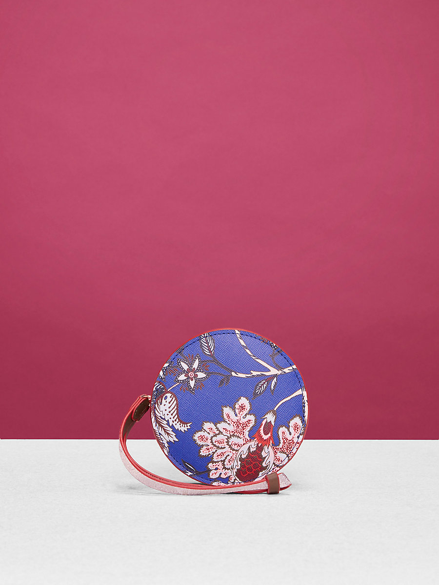 Circle Coin Pouch in Canton Electric Blue by DVF