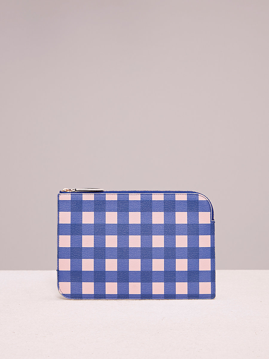Medium Zip Pouch in Cossier Klein Blue by DVF