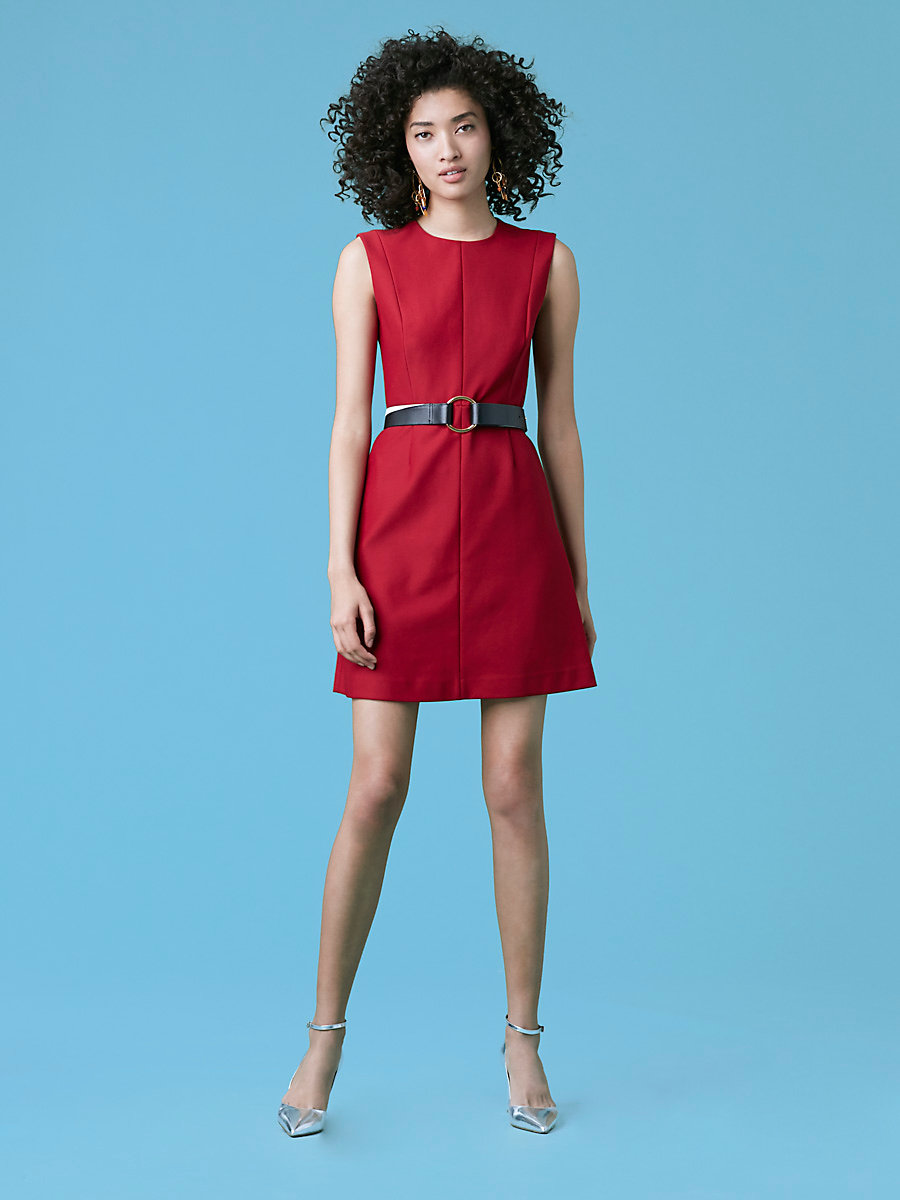 Tailored Shift Dress in Red Desire/red Desire by DVF