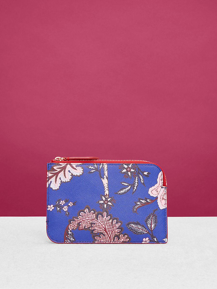 Small Zip Pouch in Canton Electric Blue by DVF