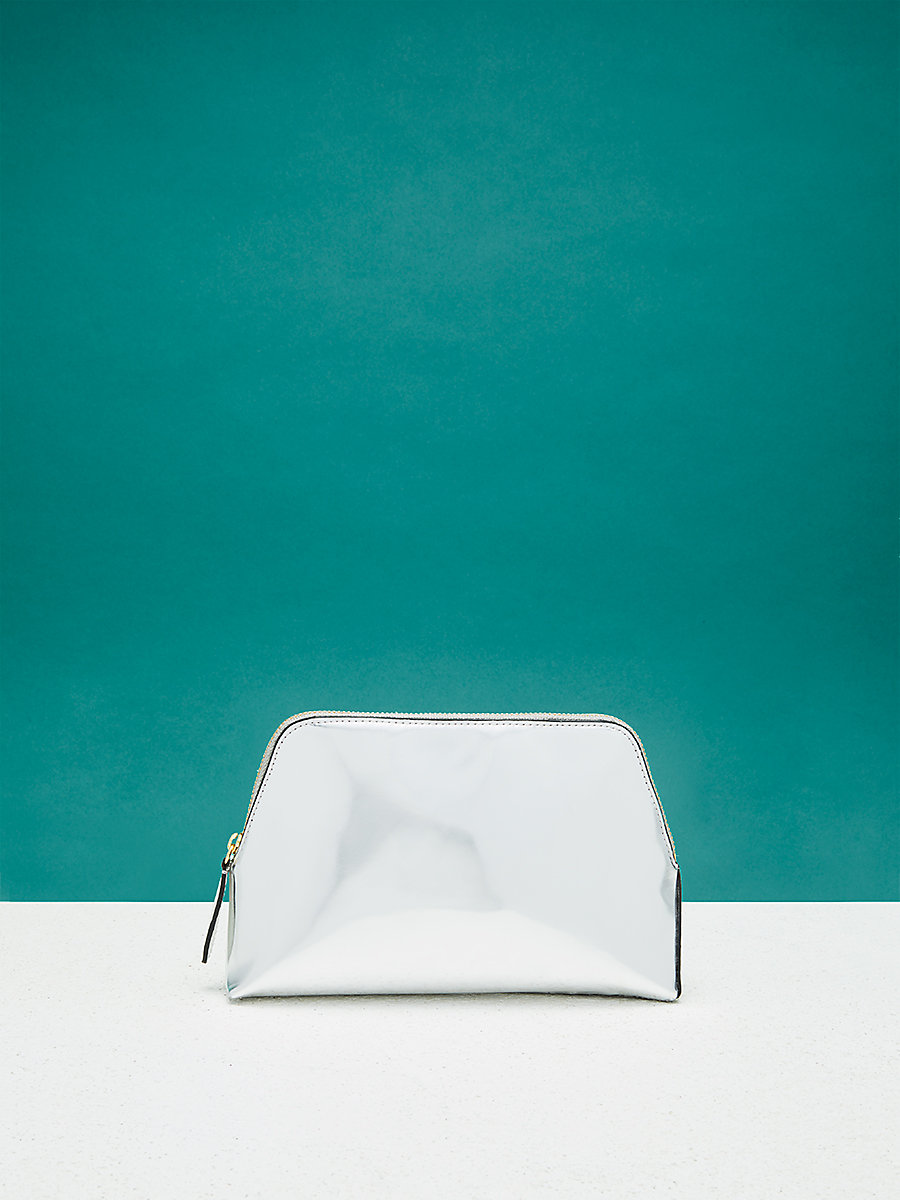 Cosmetic Pouch in Silver by DVF