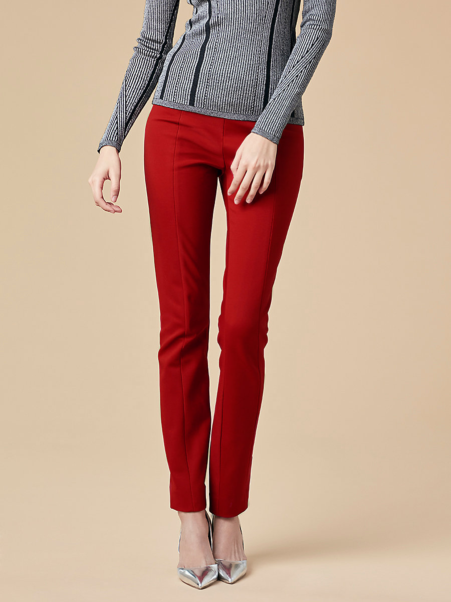 Skinny Pant in Red Desire by DVF