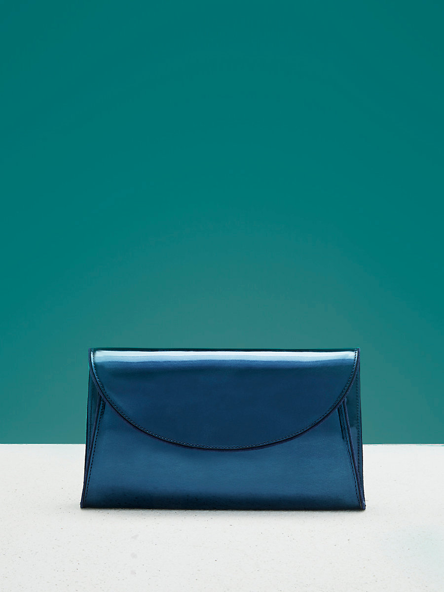 Evening Clutch in Blue/ Midnight by DVF