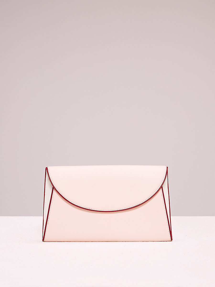Evening Clutch in Petal/ Ivory/ Red Wine by DVF