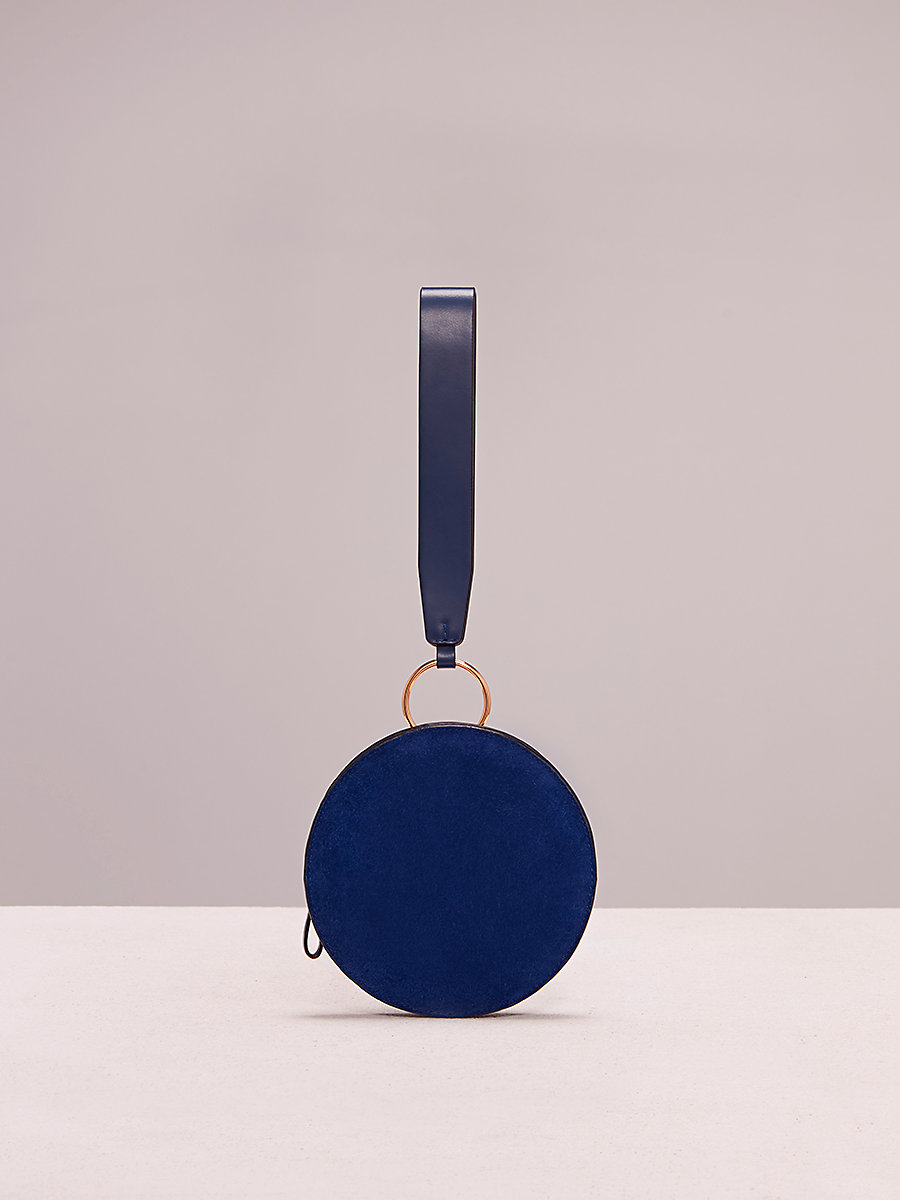 Circle Wristlet in Klein Blue/ Midnight by DVF
