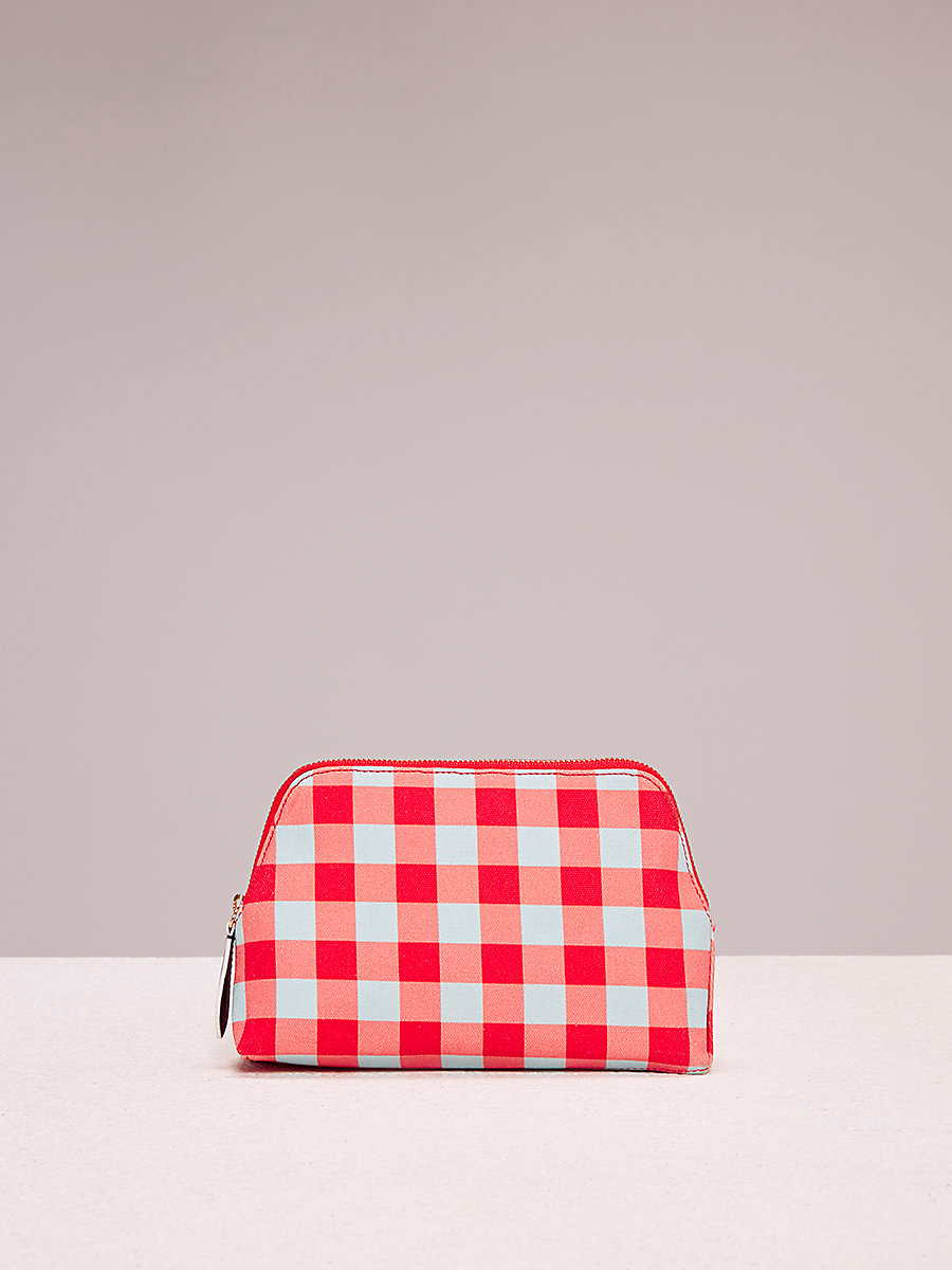 Cosmetic Canvas Pouch in Cossier Bold Red by DVF
