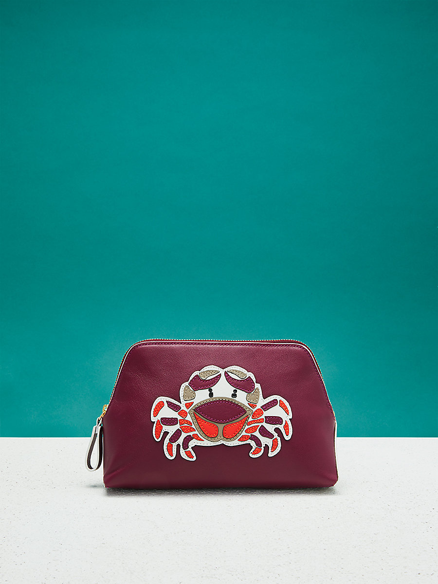 Zodiac Cosmetic Pouch in Cancer - Aubergine by DVF