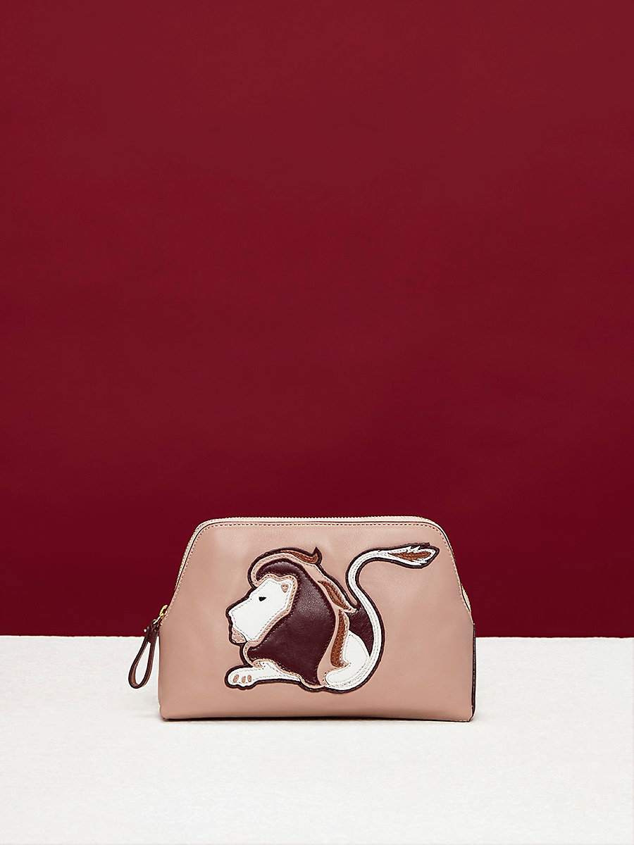 Zodiac Cosmetic Pouch in Leo - Dusty Pink by DVF