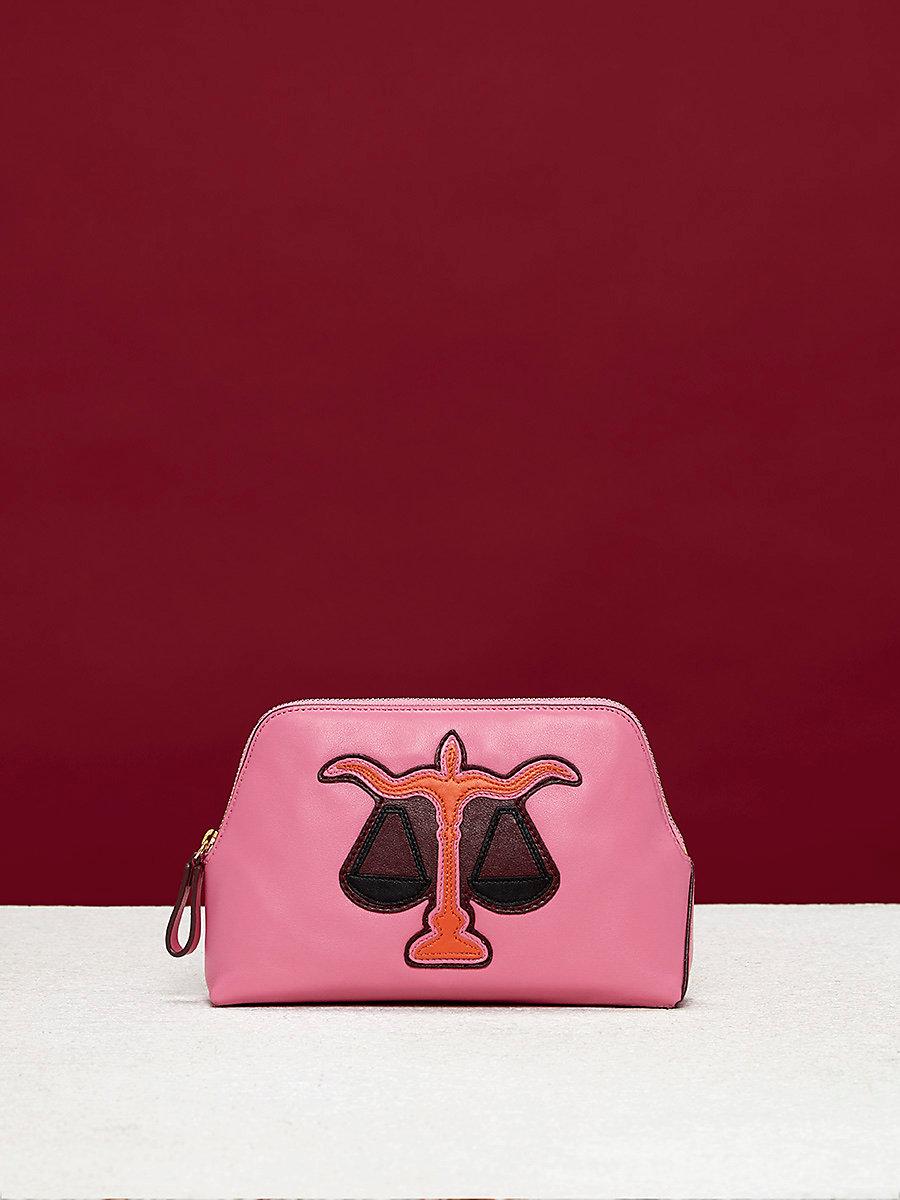 Zodiac Cosmetic Pouch in Libra - Pink Azalea by DVF