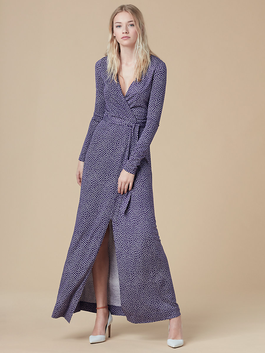 New Julian Long Wrap Dress | Landing Pages by DVF