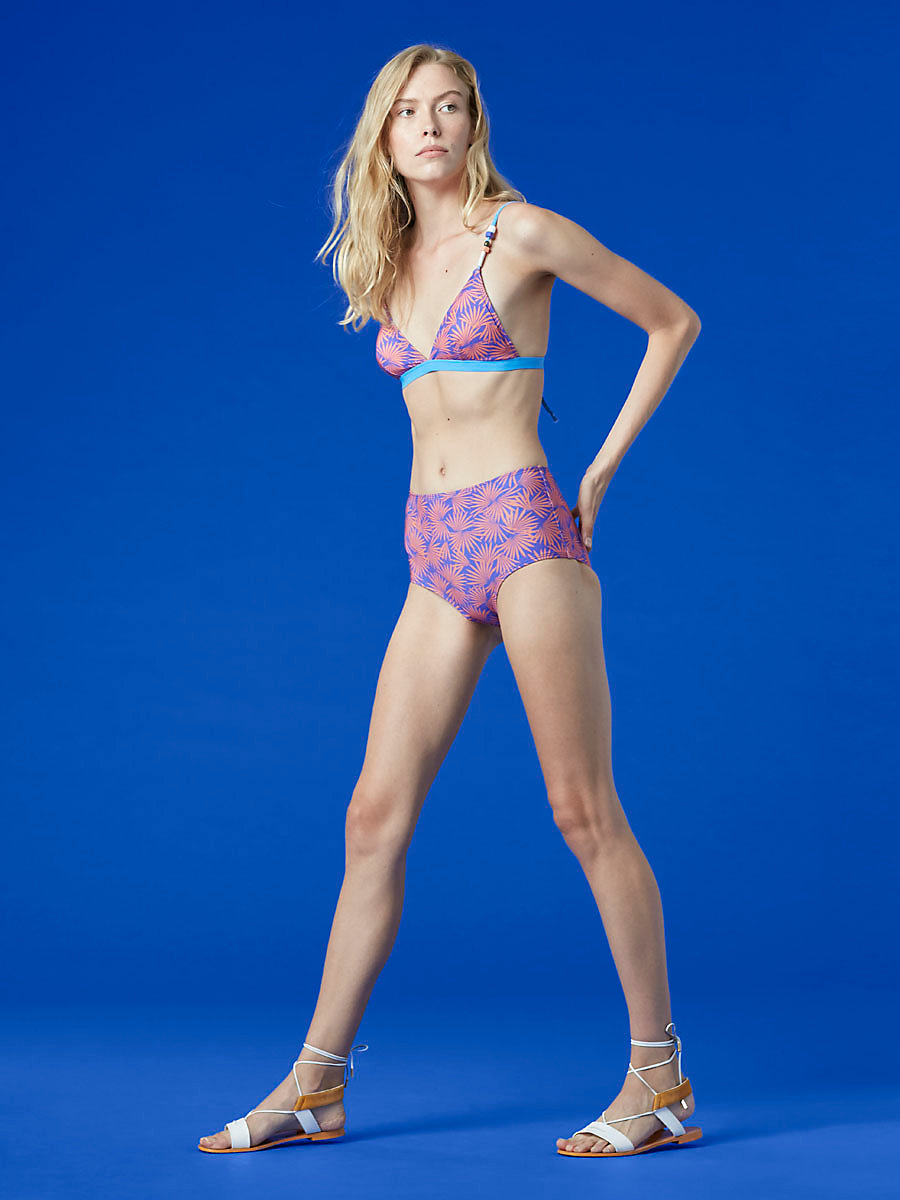 Triangle Bikini Top in Hartley Small Deco/ Hydrangea by DVF