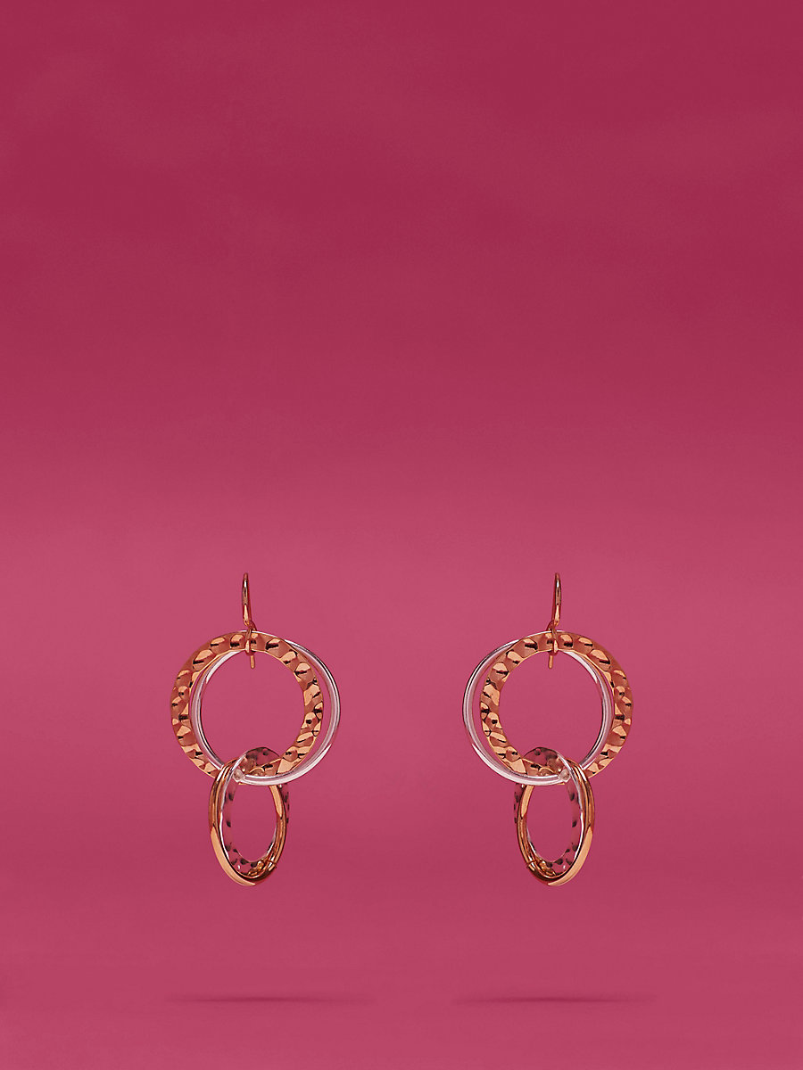 Multi-Ring Earring in Gold/ Silver by DVF