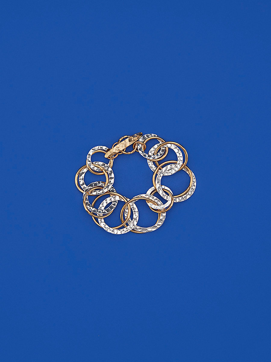 Multi-Ring Bracelet in Gold/ Silver by DVF