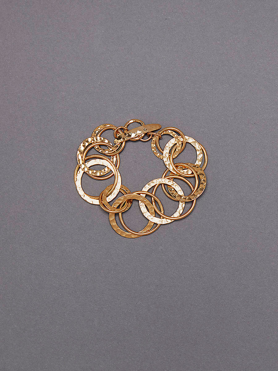 Multi-Ring Bracelet in Gold by DVF