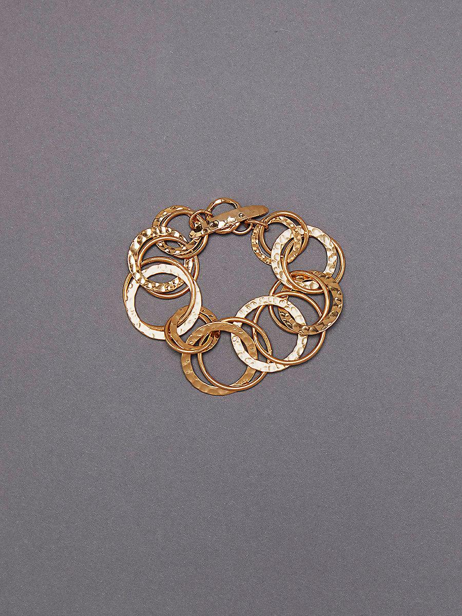 Multi-Ring Bracelet in Gold by DVF