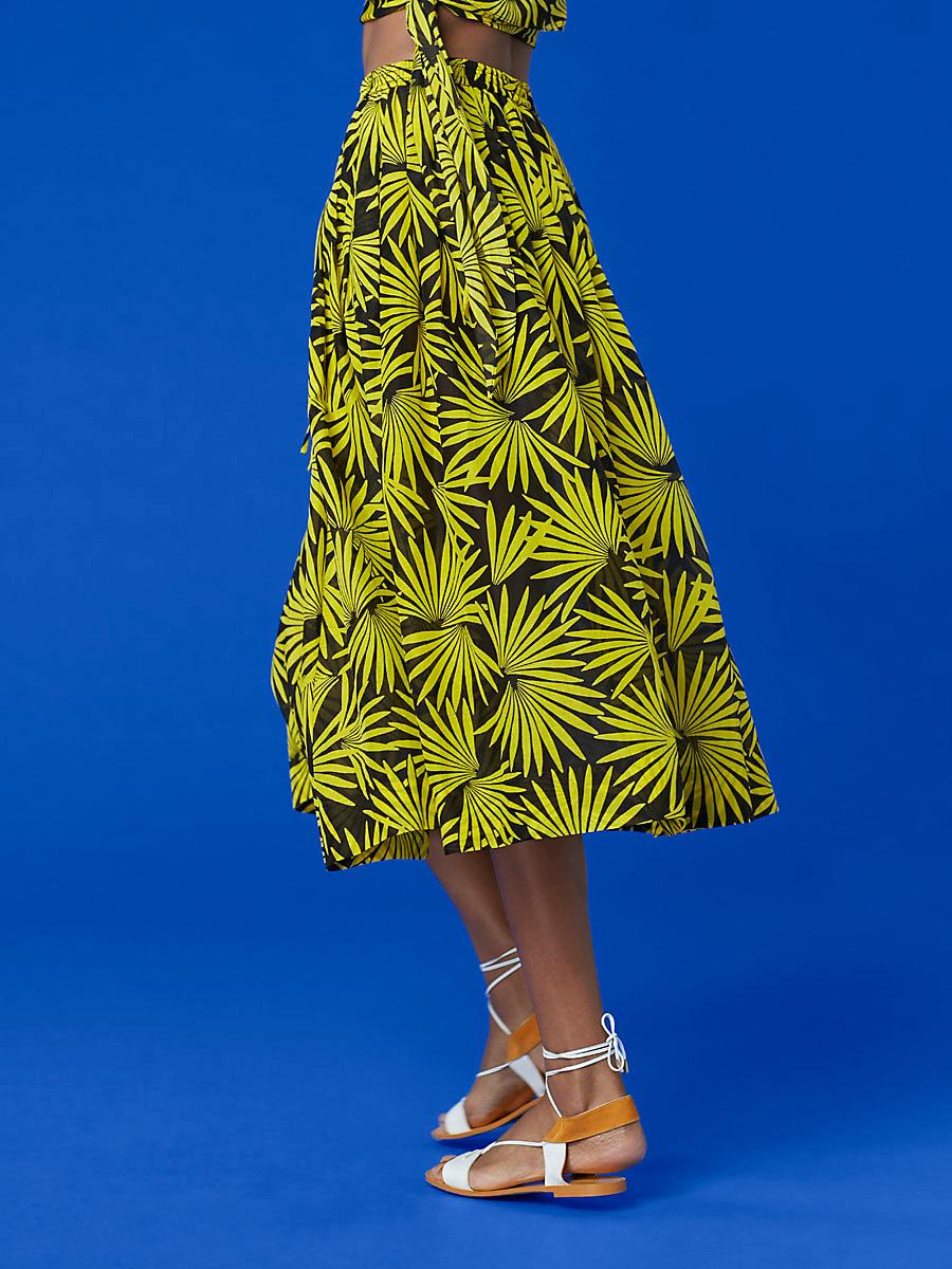 Drawstring Midi Skirt in Hartley Daffodil by DVF