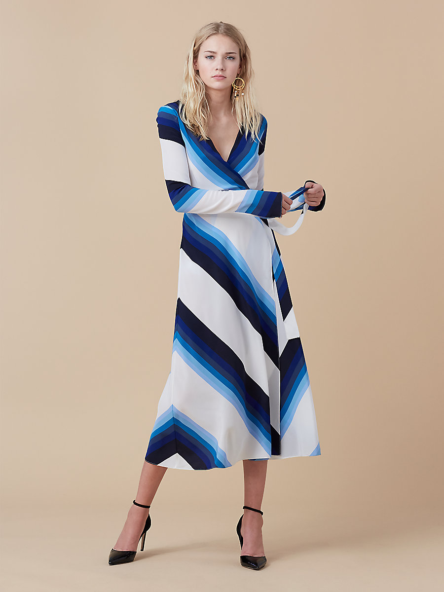 Midi Wrap Dress in Royale True Blue by DVF