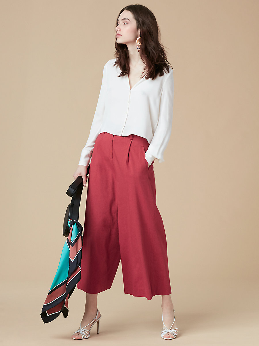 High-Waisted Culotte in Cinnabar by DVF
