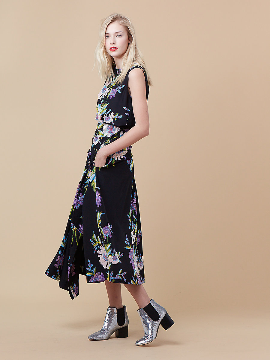 Printed Shell in Curzon Black/ Black by DVF