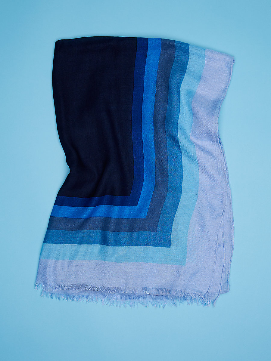 Royale New Grace Scarf in Royale Bleu  by DVF