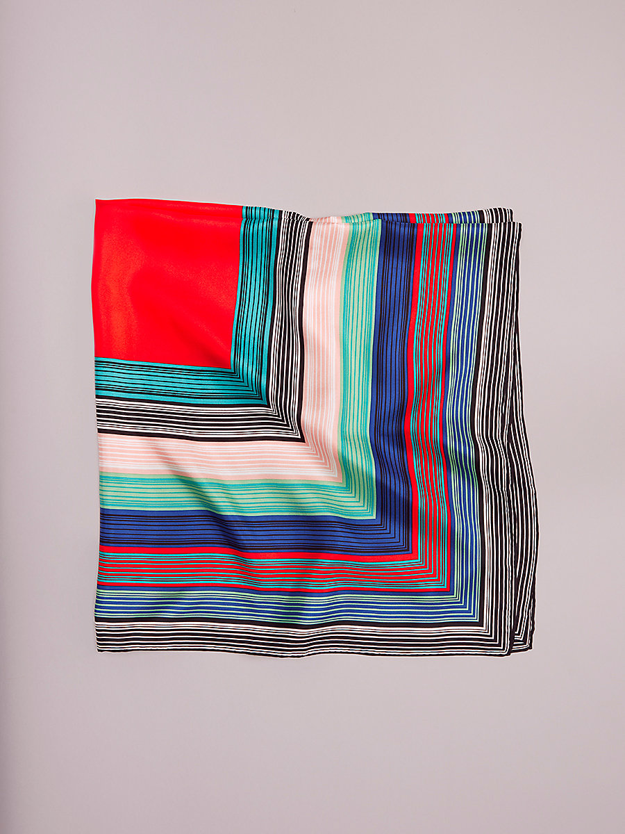 Burman Square Scarf in Burman Square Bold Red by DVF