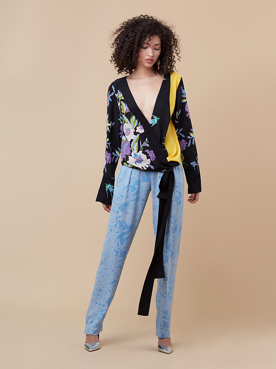 Soft Pant in Lepic True Blue/ True Blue by DVF