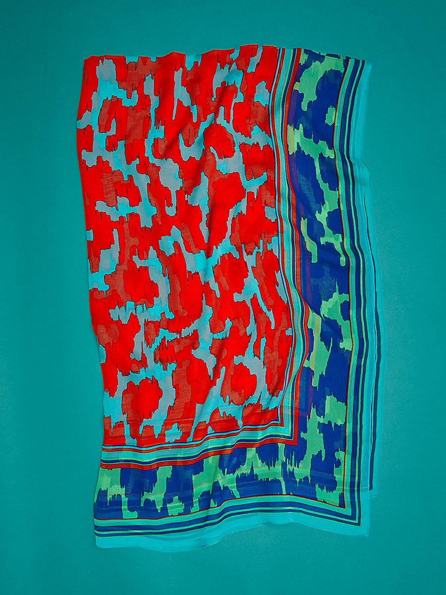 Eylan Modern Cashmere Scarf in Eylan Bold Red by DVF