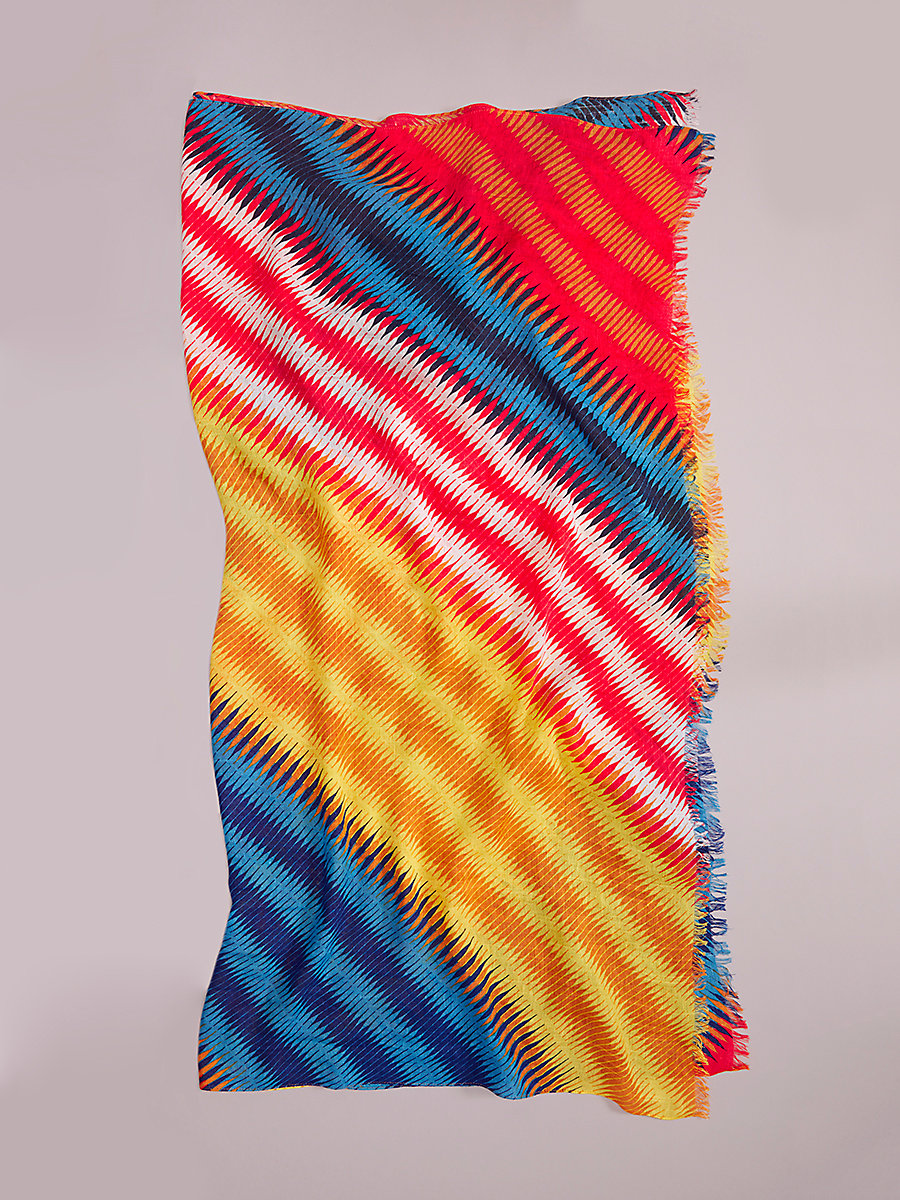 Anson Scarf in Anson Stripe Klein Blue Multi by DVF