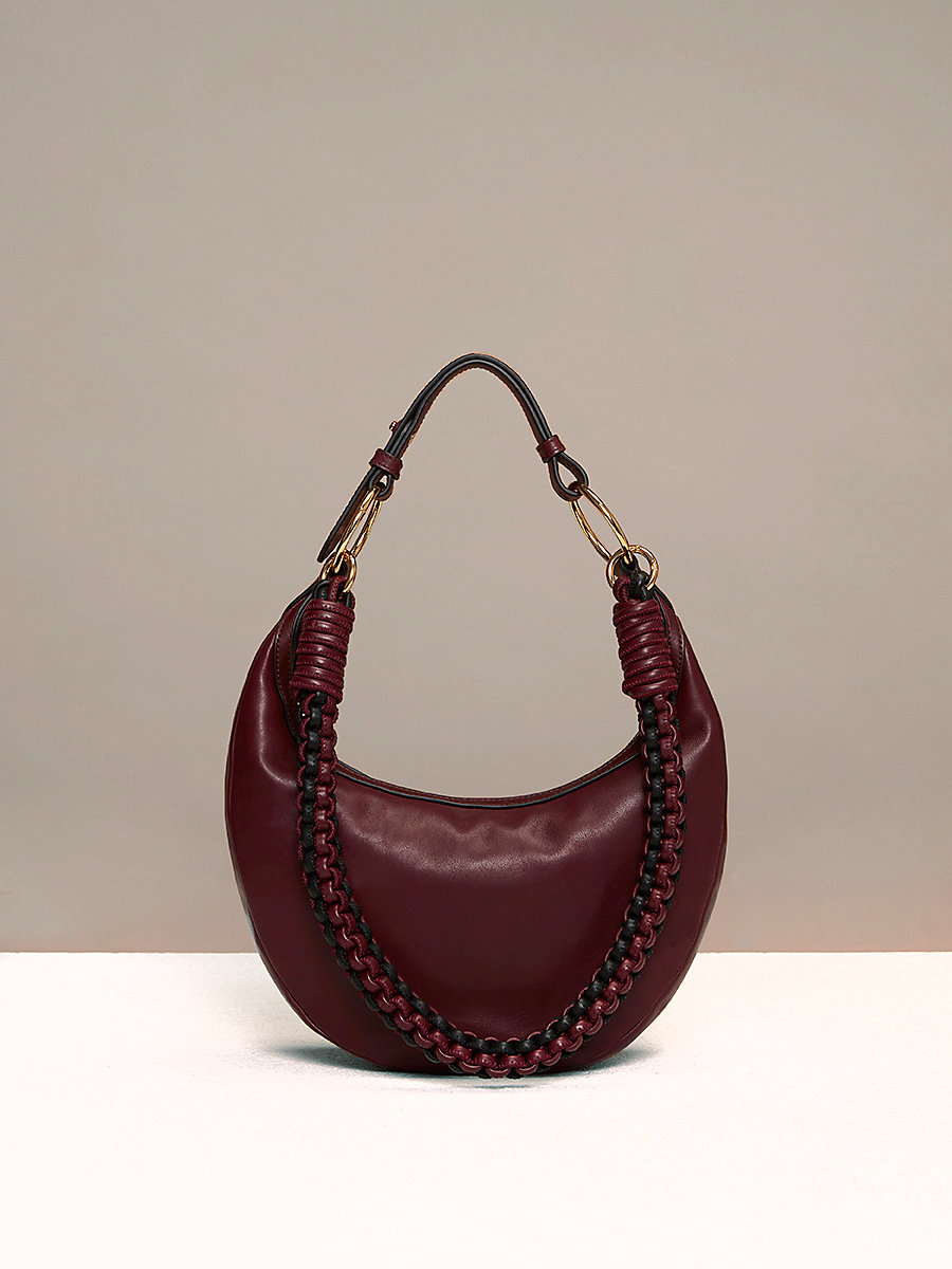Mini Sling Hobo Bag in Bordeaux by DVF